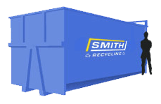 Smith Recycling 35 yard roll on/roll off enclosed container