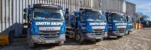 Smith Recycling lorry fleet in recycling facility